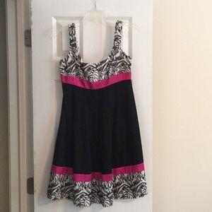 Kathryn Conover Pink & Black Dress Size 8